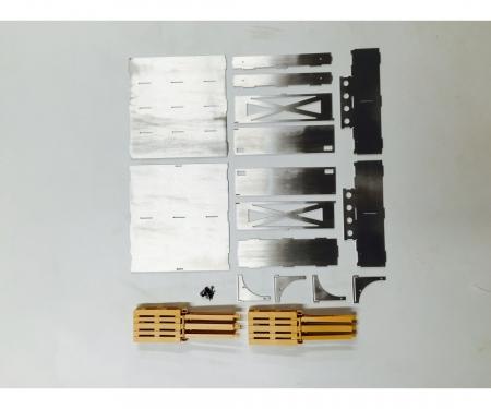 carson 1:14 Alum. Trailer palette case w/6 Pal.
