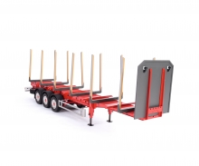 carson 1:14 3-Axle Stanchion Trailer, new susp.
