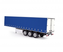 carson 1:14 Curtain-side Trailer RTR white/blue