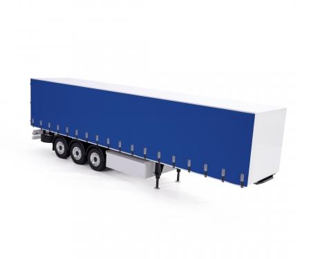 carson 1:14 Curtain-side Trailer RTR white/blue