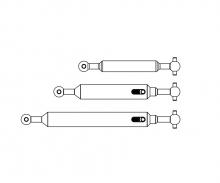carson 1:14 Propeller shaft Set (3) 4x4 adj.