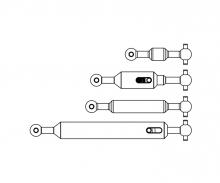 carson 1:14 Antriebswellen-Set (4) 6x6 Ausgl.