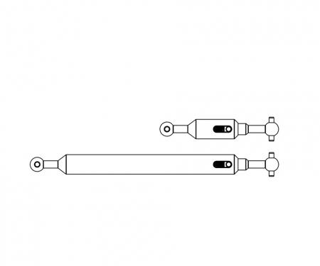 carson 1:14 Propeller shaft Set (2) 6x4 adj.