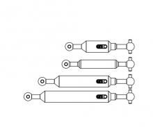carson 1:14 Antriebswellen-Set (4) 6x6 Ki.Ausg.