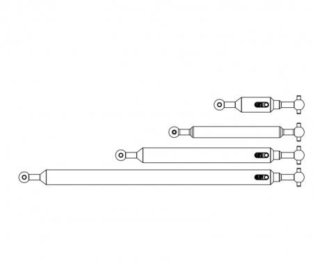 carson 1:14 Prop.shaft Set 6x6 (4) FH adj.