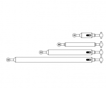 carson 1:14 Antriebswellen-Set (4) 6x6 FH Ausg.
