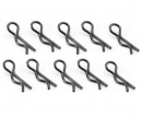 Body pins 27 mm, 10 pieces, black