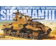 carson 1:35 Brit. Army SHERMAN 3 Early VVSS-Su.