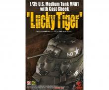 carson 1:35 US Med. Tank M4A1 w/Cast Cheek Luc.