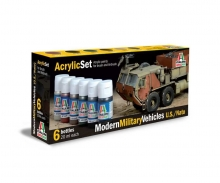 Acryl Set Moderne Militärfahrzeuge
