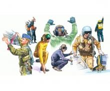 1:72 NATO Piloten und Bodenpersonal