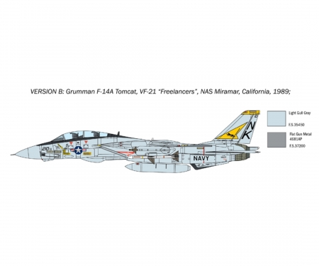 carson 1:72 F-14A Tomcat Recessed Line Panels