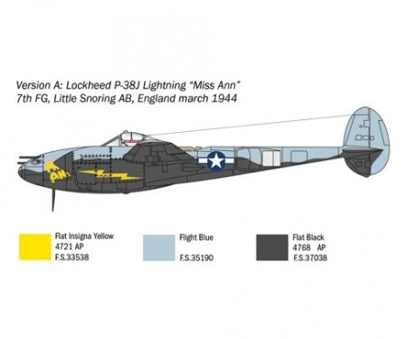 carson 1:72 US P-38J Lightning
