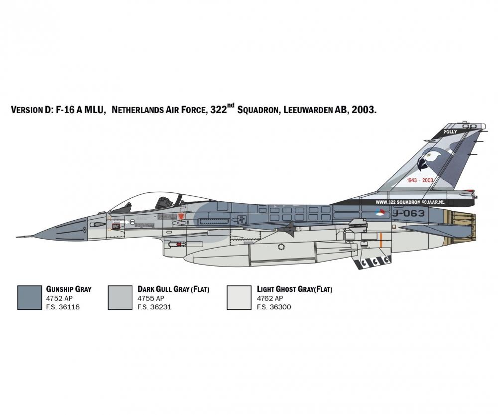 Italeri 1:48 F-16A Fighting Falcon 510002786