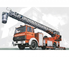 carson 1:24 Iveco-Magirus DLK 23-12 Fire Ladder