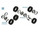carson 1:24 Reifen-/Felgen-Set Euro (7+7)