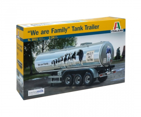 "carson 1:24 ""The Familiy""Swissmilk Tank Trailer"