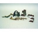 carson 1:72 Walls and ruins w/accessories