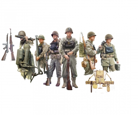 carson 1:35 Figure-Set U.S. Infantry on Board