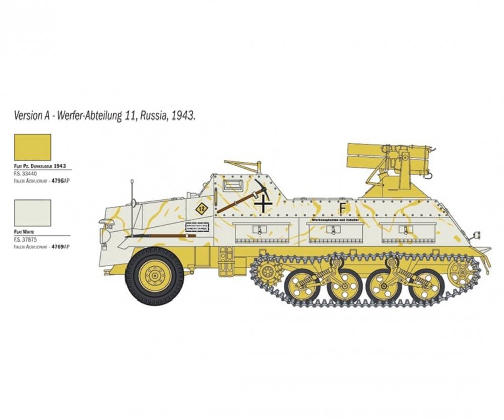Italeri 1:35 Panzerwerfer 42 Maultier Halbk.