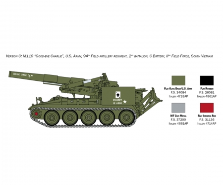 carson 1:35 M110 Self Propelled Howitzer