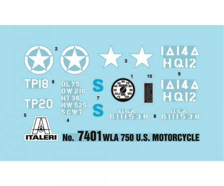 carson 1:9 WLA 750 US Military Motorcycles