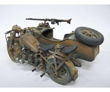 carson 1:9 German Milit.Motorcycle w/sidecar