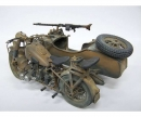 1:9 German Milit.Motorcycle w/sidecar