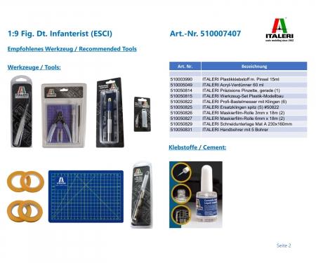 carson 1:9 Fig. Dt. Infanterist (ESCI)