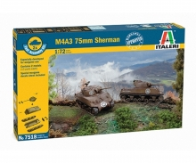 1:72 Sherman M4A3 75mm, 2 pcs