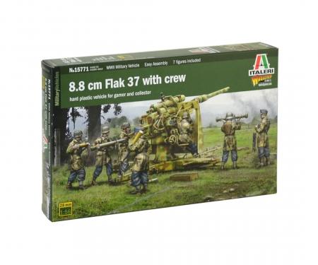 1:56 8.8cm Flak 37 w/ crew (+ 7 figures)
