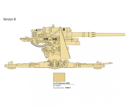 carson 1:56 8.8cm Flak 37 w/ crew (+ 7 figures)