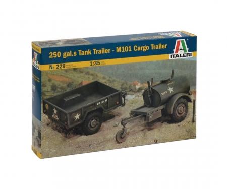 carson 1:35 Gal.S TankTrailer+M101 KargoTrailer