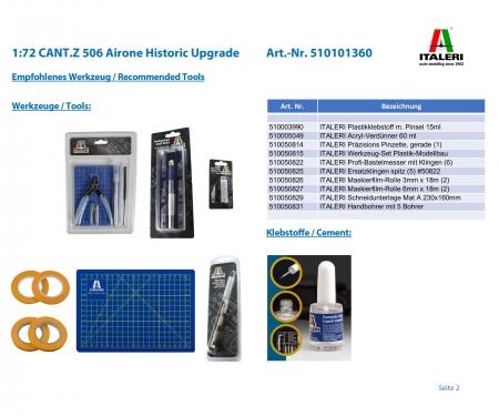 carson 1:72 CANT.Z 506 Airone Historic Upgrade