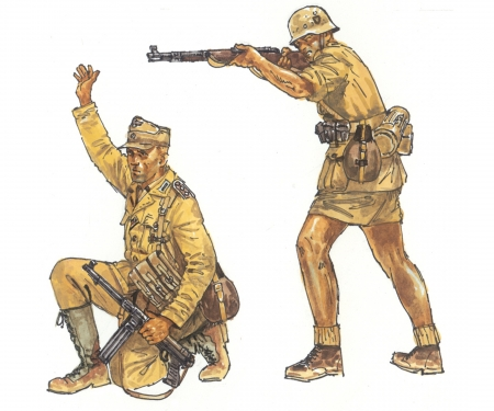 carson 1:72 WW2 Fig.-Set Deutsches Afrika Korps