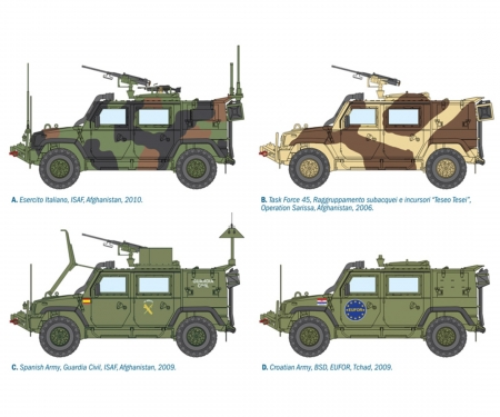 carson 1:35 4x4 IVECO Lince Military Vehicle