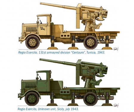 carson 1:72 Autocannone RO3 w/ 90/53 AA Gun