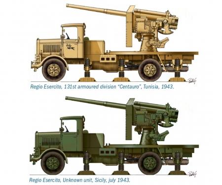 carson 1:72 Autokanone RO3 90/53 AA Gun