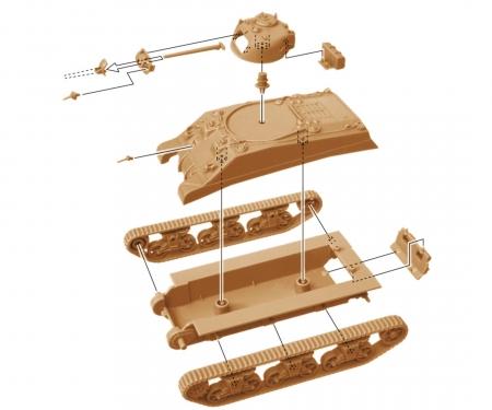 carson 1:72 M4A2 Sherman III (2 fast ass. Mod.)