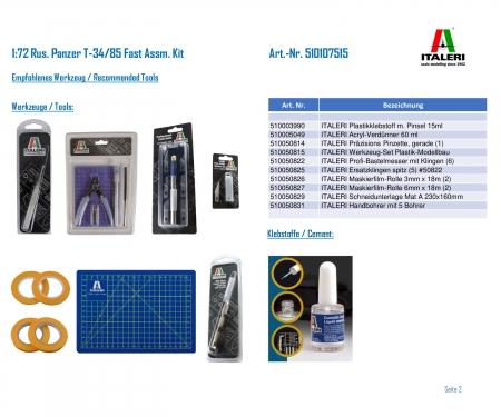 carson 1:72 Rus. Tank T-34/85 Fast Assm. Kit