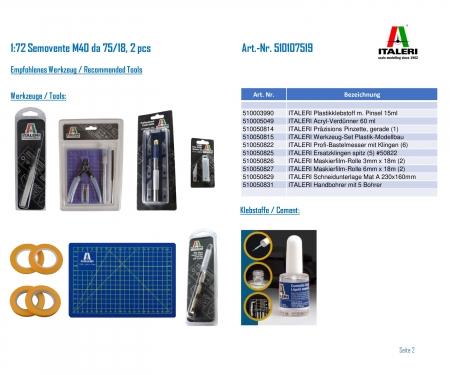 carson 1:72 Semovente M40 da 75/18, 2 pcs