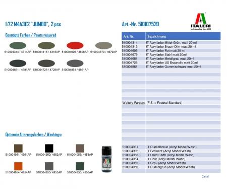 "carson 1:72 M4A3E2 ""JUMBO"", 2 pcs"