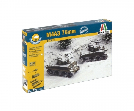 carson 1:72 M4A3 76mm (Fast Ass. Kit) 2 Modelle