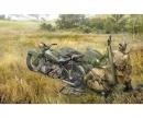 carson 1:35 Sov. Motorcycle M-72 w/ 82mm Mortar