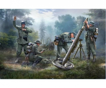 carson 1:72 German 120mm Mortar w/crew Granatw.