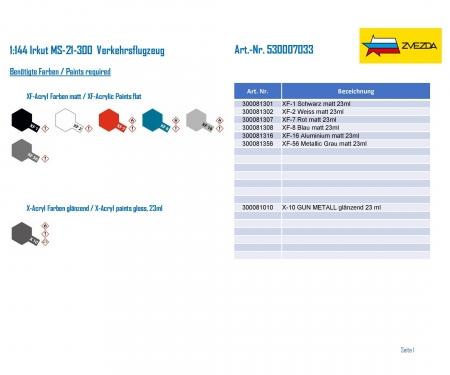 carson 1:144 Irkut MS-21-300 Airliner