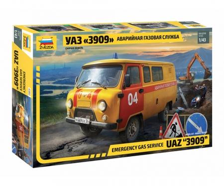 1:43 UAZ Gas Service Car
