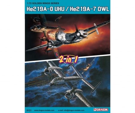 carson 1:72 He219A-0 UHU / He219A-7 OWL (2in1)