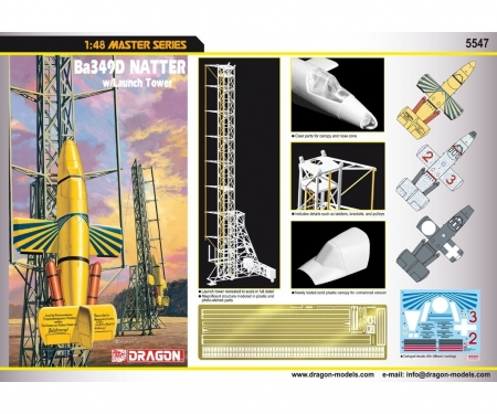 carson 1:48 Ba349D NATTER w/Launch Tower