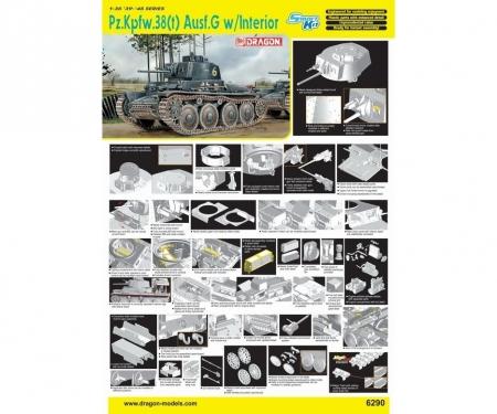 carson 1:35 Pz.Kpfw. 38(t) Ausf.G w/Interior